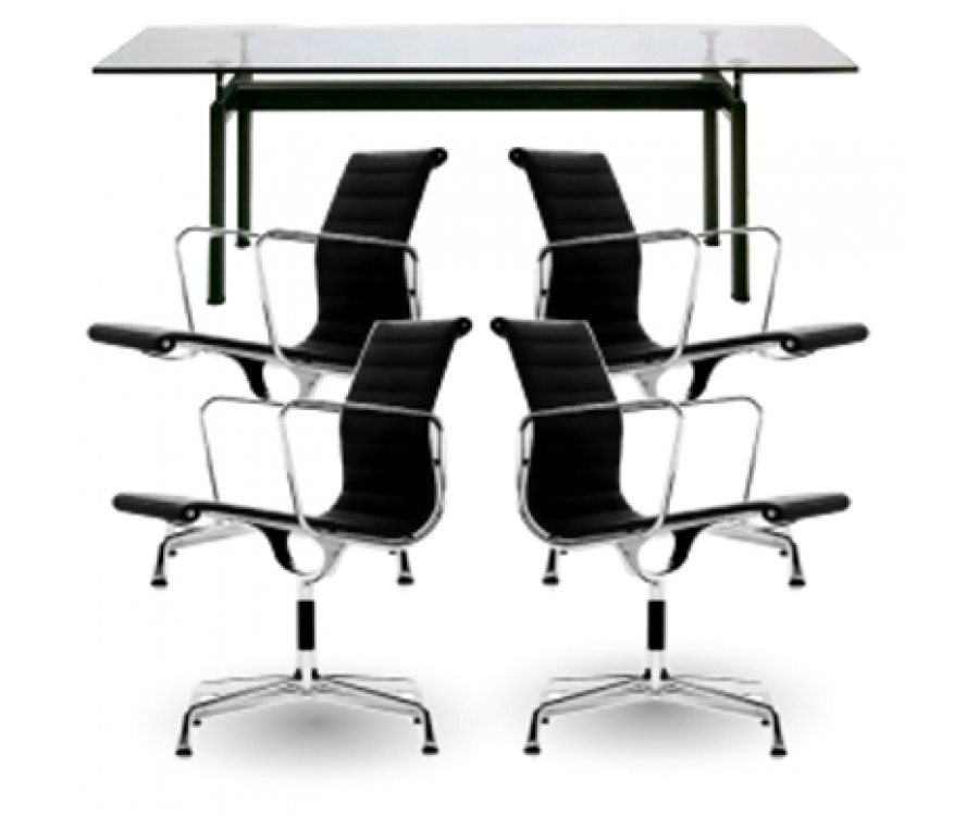 LC6 Table + 4 Armchairs CE 545